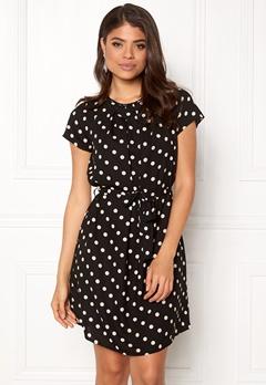 VERO MODA Nelli S/S Short Dress Black White dots Bubbleroom.fi