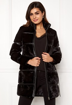 VERO MODA Ninja 3/4 Faux Fur Jacket Black Bubbleroom.fi