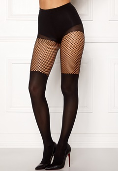 VERO MODA Overknee Fishnet Tights Black Bubbleroom.fi