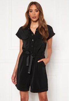 VERO MODA Paula SS Playsuit Black Bubbleroom.fi