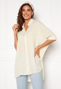 VERO MODA Poel Ss Oversize Shirt Birch<br>  Bubbleroom.fi