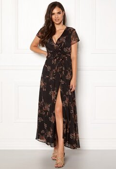 VERO MODA Queen S/S Maxi Dress Black Bubbleroom.fi