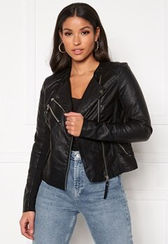 VERO MODA Riafavo Coated Jacket Black Bubbleroom.fi