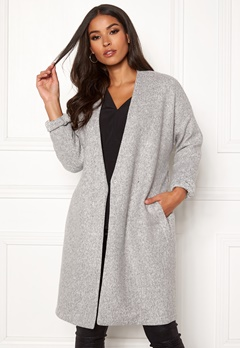 VERO MODA Rine Brushed 3/4 Jacket Light Grey Melange Bubbleroom.fi
