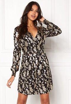 VERO MODA Romeo LS Wrap Short Dress Black Bubbleroom.fi