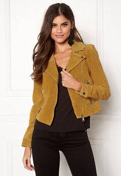 VERO MODA Royce Short Suede Jacket Golden Glow Bubbleroom.fi