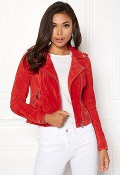 VERO MODA Royce Short Suede Jacket Poppy Red Bubbleroom.fi