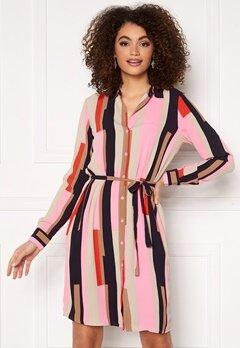 VERO MODA Saga Collar Shirt Dress Prism Pink / Matilda Bubbleroom.fi