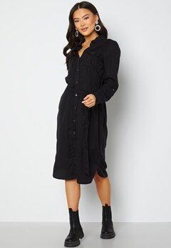 VERO MODA Sally LS long dress Black Denim Bubbleroom.fi