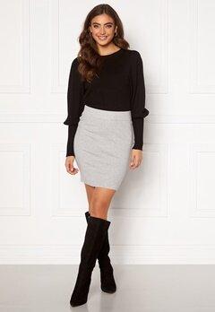 VERO MODA Sanna Knit Skirt Light Grey Melange Bubbleroom.fi