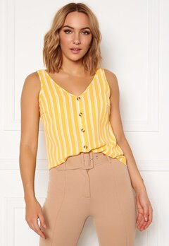 VERO MODA Sasha S/L Button Top AOP Banana Cream Bubbleroom.fi
