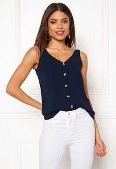 VERO MODA Sasha S/L Button Top Navy Blazer Bubbleroom.fi