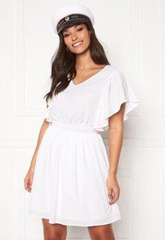 VERO MODA Sasha SS Frill Dress Bright White Bubbleroom.fi