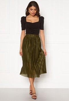 VERO MODA Seline Plisse Skirt Military Olive Bubbleroom.fi