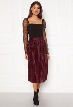VERO MODA Seline Plisse Skirt Port Royale Bubbleroom.fi
