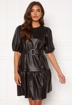 VERO MODA Serena Coated Belt Dress Black Bubbleroom.fi