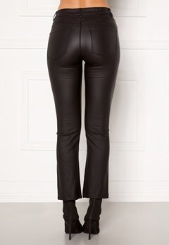 VERO MODA Sheila MR Kick Flare Coated Pant Black Bubbleroom.fi