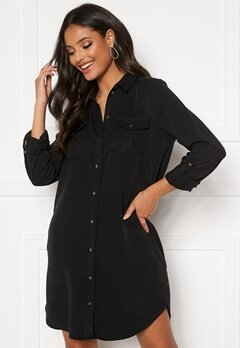 VERO MODA Silla LS Short Dress Black Bubbleroom.fi