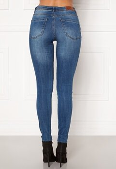 VERO MODA Tanya Piping Raw Jeans Medium Blue Denim Bubbleroom.fi
