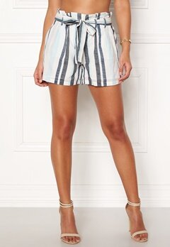VERO MODA Tavi NW Shorts Cool Blue Stripe Bubbleroom.fi