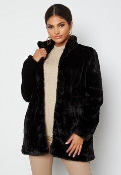 VERO MODA Thea 3/4 Faux Fur Jacket Black Bubbleroom.fi