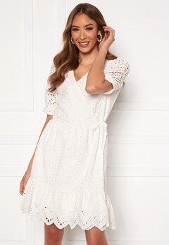 VERO MODA Therese Short Wrap Dress Snow White Bubbleroom.fi
