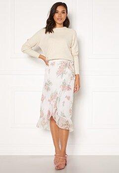 VERO MODA Wonda H/W Wrap Skirt Birch AOP Ophelia Ro Bubbleroom.fi