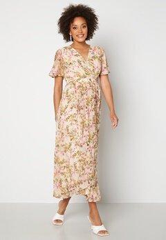 VERO MODA Wonda S/S Wrap Maxi Dress Birch AOP: Siga Bubbleroom.fi