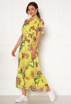 VERO MODA Wonda S/S Wrap Maxi Dress Celandine AOP Bubbleroom.fi