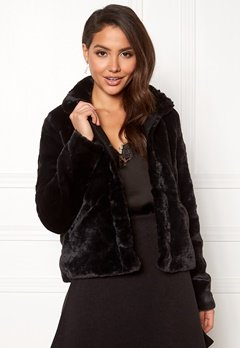 ONLY Vida Faux Fur Jacket Black Bubbleroom.fi