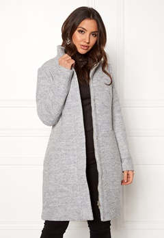 VILA Alanis Coat Light Grey Melange Bubbleroom.fi