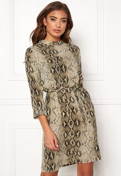 VILA Amella L/S Dress Sandshell Bubbleroom.fi