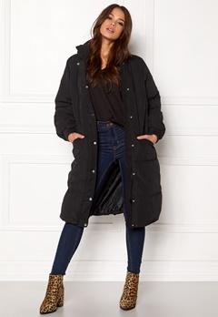 VILA Anabella Long Jacket Black Bubbleroom.fi