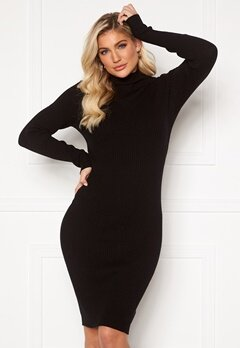 VILA Andena Knit Dress Black Bubbleroom.fi