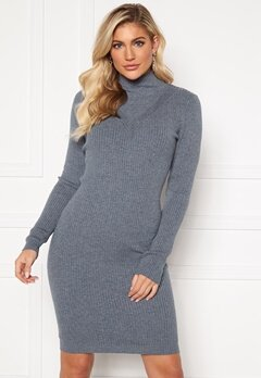 VILA Andena Knit Dress China Blue Bubbleroom.fi