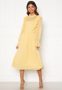 VILA Ashlynn Highneck L/S Dress Sunlight Bubbleroom.fi
