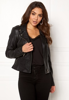 VILA Becky Leather Jacket/TB Black Bubbleroom.fi