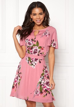 VILA Birdo S/S Dress Bridal Rose Bubbleroom.fi
