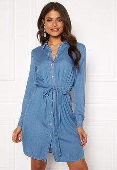 VILA Bista Denim Belt Dress Medium Blue Denim Bubbleroom.fi