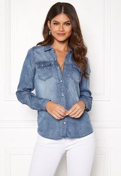 VILA Bista Denim Shirt Medium Blue Denim Bubbleroom.fi