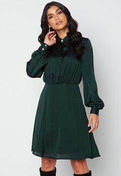 VILA Cajsa L/S Shirt Dress Darkest Spruce bubbleroom.fi