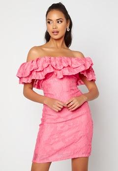 VILA Caroline S/L Dress Azalea Pink<br>  Bubbleroom.fi