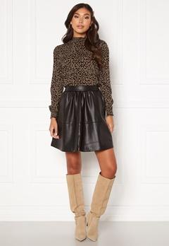 VILA Choosy HW Skirt Black Bubbleroom.fi