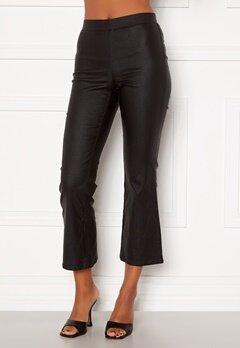 VILA Commit Coated HWSL Cropped Pants Black Bubbleroom.fi