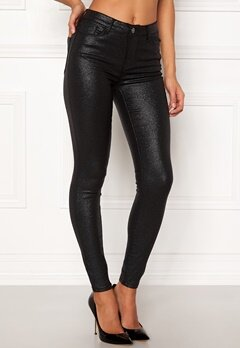 VILA Commit RW Glitter Jeans Black Bubbleroom.fi