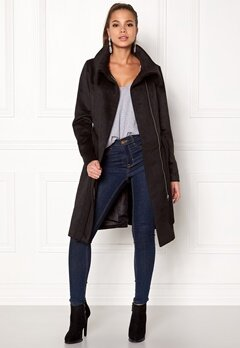 VILA Dahlia Wool Coat Black Bubbleroom.fi
