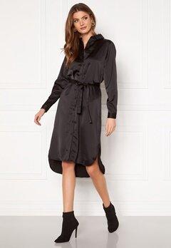 VILA Daye L/S Shirt Dress Black Bubbleroom.fi