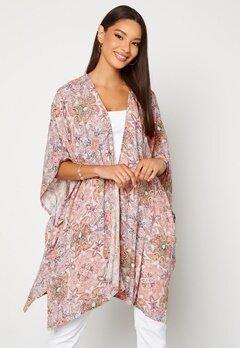 VILA Esa S/S Loose Sleeve Kimono Ecru AOP Bubbleroom.fi