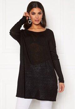 VILA Filak Knit L/S Oversize Tunic Black Bubbleroom.fi