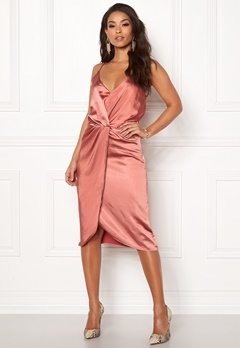 VILA Fsateny Midi Dress Dusty Cedar Bubbleroom.fi